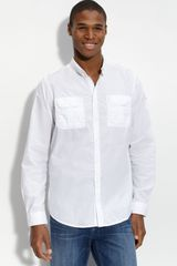 Ben Sherman Military Roll Sleeve Shirt - Lyst