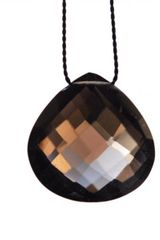 Vivien Frank Designs Wish Necklace with Smoky Quartz and Silk - Lyst