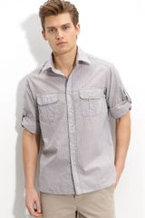Billy Reid Scout Roll Sleeve Shirt - Lyst