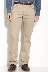 Burberry Straight Leg Twill Pants - Lyst