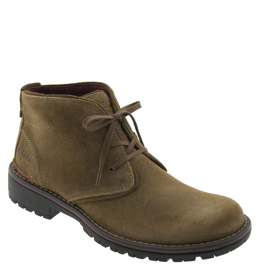 clarks roar chukka boot in brown for taupe suede lyst