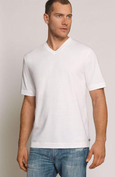 Coopers by jockey outlast v neck t shirt in white for for Jockey v neck shirt