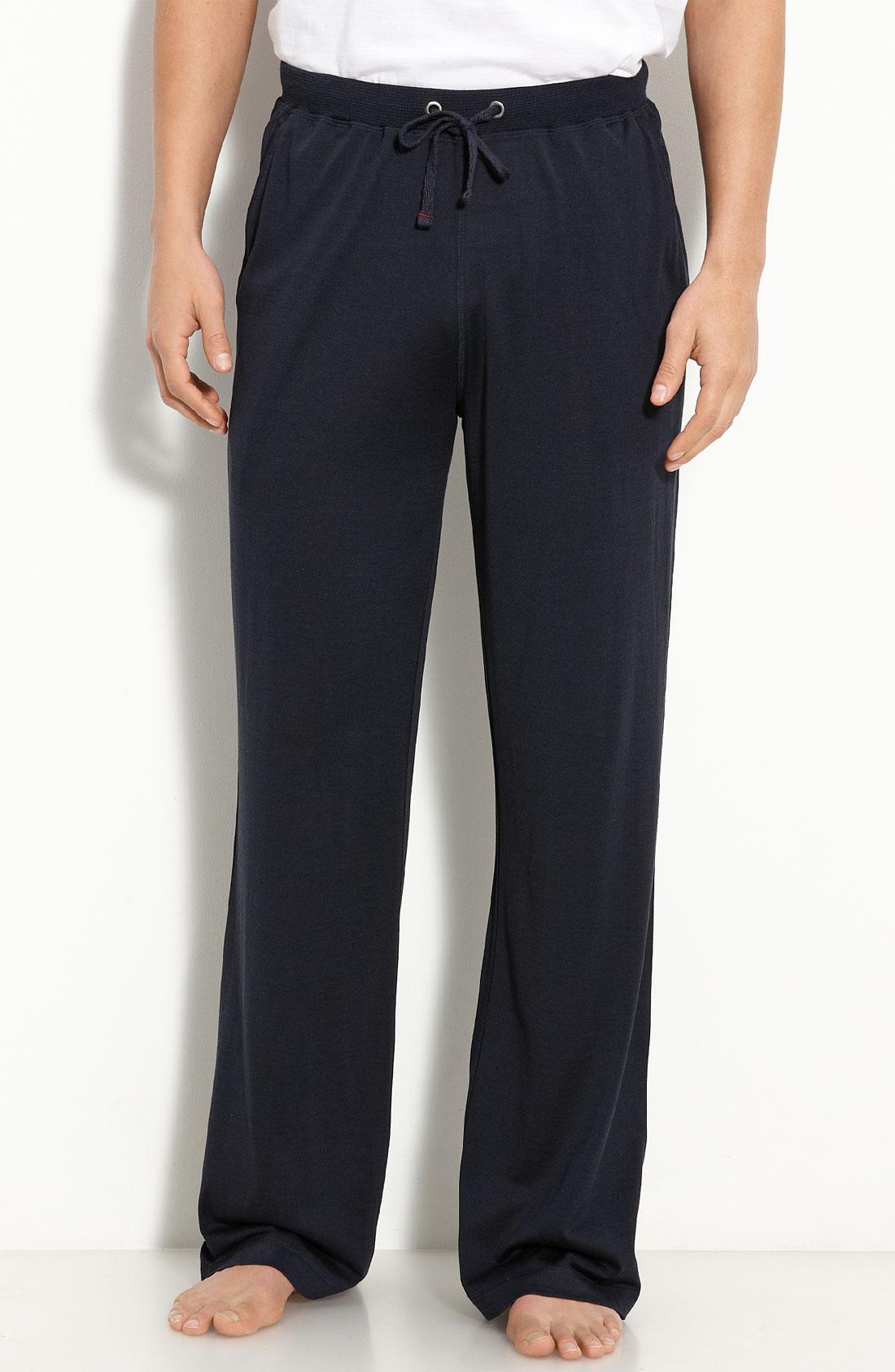 Daniel Buchler Silk Amp Cotton Pants In Blue For Men Navy