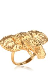 Dominique Lucas Yellow Gold Elephant Ring - Lyst