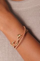 Giles & Brother Hook Wrap Bracelet in Gold - Lyst