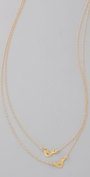 Gorjana Love Bird Necklace in Gold - Lyst