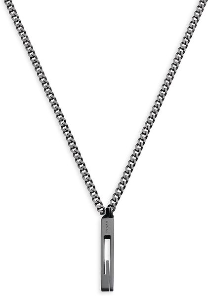 Gucci Large G Pendant Necklace in Silver for Men (nickle) - Lyst