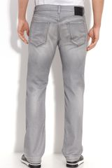 Hugo Boss Boss Black Maine Straight Leg Jeans (grey Wash) - Lyst