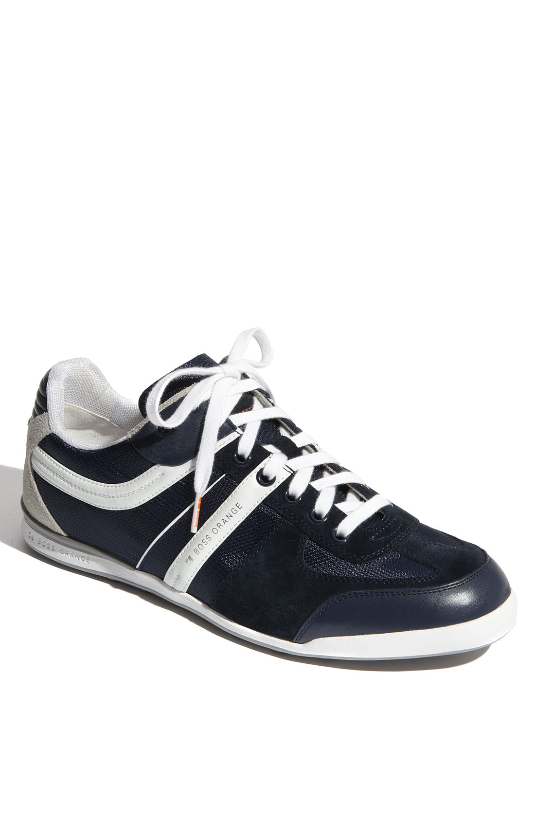 hugo boss boss orange kempton sneaker in blue for men navy lyst. Black Bedroom Furniture Sets. Home Design Ideas