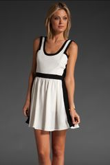 Jay Godfrey Summers Color Block Dress in White/black - Lyst