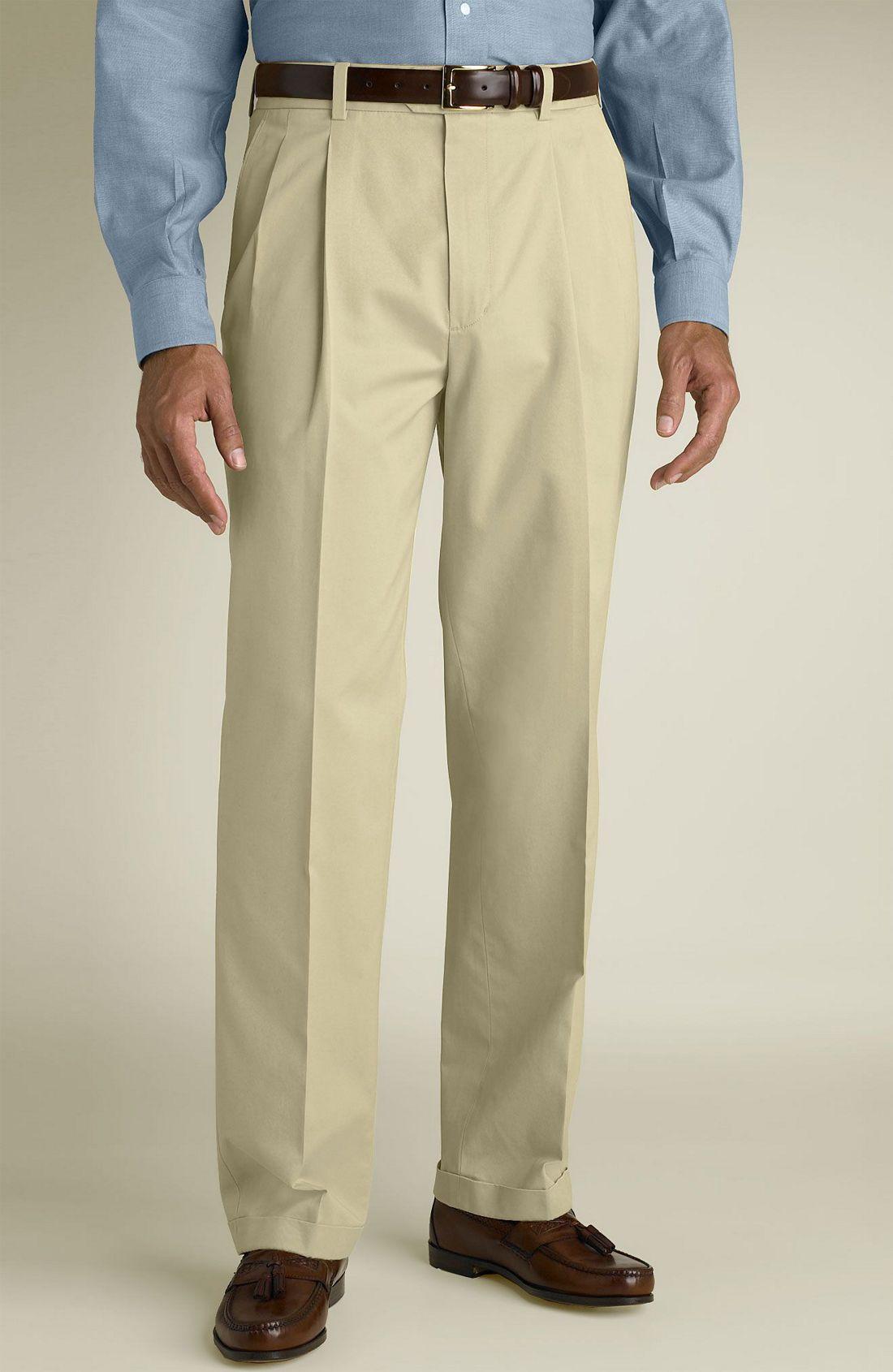 John W. Nordstrom® Smartcare™ Double Pleat Supima® Cotton ...