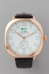 La Mer Collections Vintage Oversized Watch in Black - Lyst