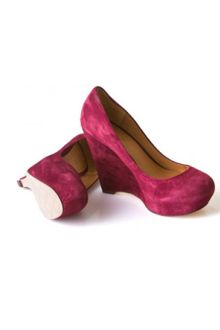 L.a.m.b. Plum Wedge Pumps - Lyst