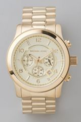 Michael Kors Mens Oversized Watch in Gold for Men - Lyst