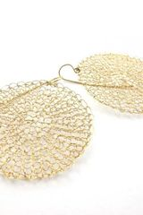 Sari Glassman Circles - Knitted Earrings - 14k Gf - Lyst