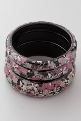See By Chloé Printed Resin Bangle Set - Lyst