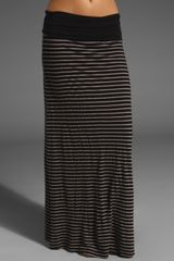 Splendid Mixed Stripe Maxi Skirt - Lyst