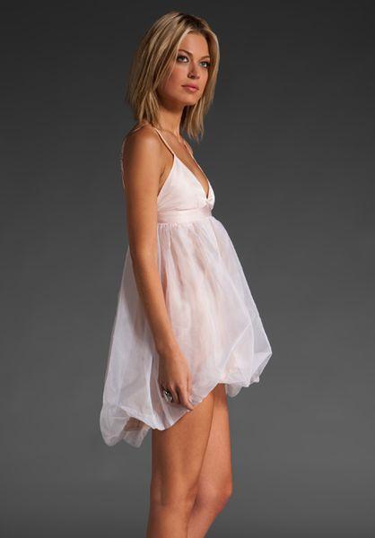 Stolen Girlfriends Club Baby Doll Dress in White pink in