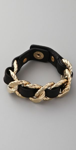 Temperley London Chain Bracelet in Black - Lyst