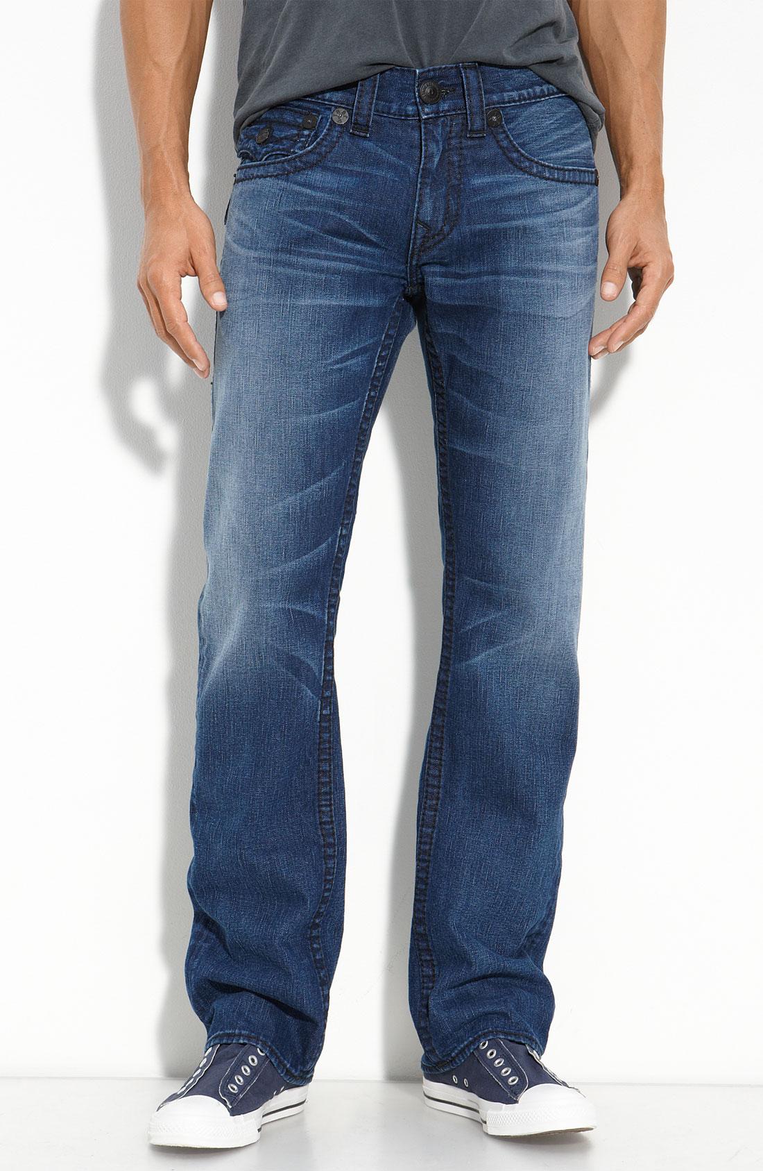true religion ricky straight leg jeans in rattler wash in. Black Bedroom Furniture Sets. Home Design Ideas