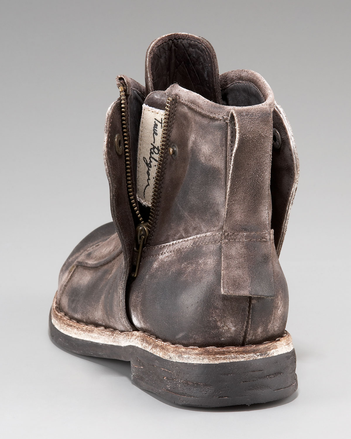 true religion zeus distressed boot in brown for lyst