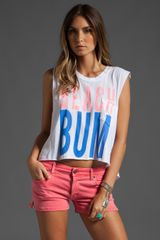 Wildfox Couture Beach Bum Charlie Crop Tank - Lyst