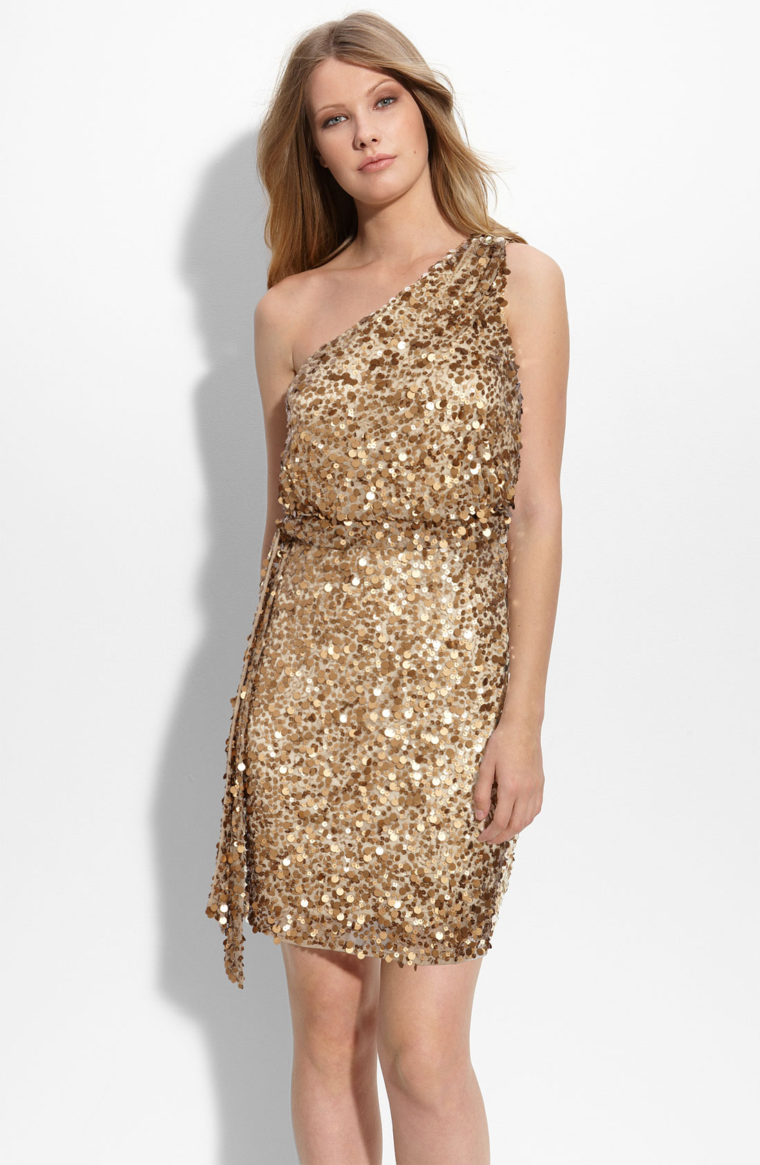 Sequin Off The Shoulder Dress