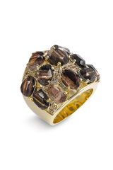 Ariella Collection Multi Stone Encrusted Ring - Lyst