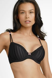 Betsey Johnson Lightly Lined Underwire Demi Bra - Lyst