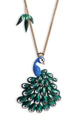 Betsey Johnson Asian Jungle Long Statement Pendant Necklace - Lyst