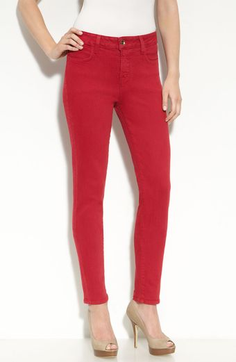 Blue Essence Eliot Skinny Denim Jeans (red Wash) - Lyst
