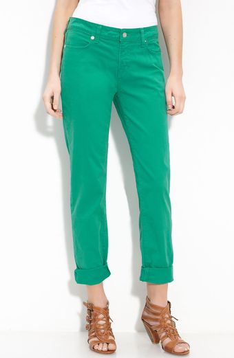 Blue Essence Stretch Twill Pants - Lyst
