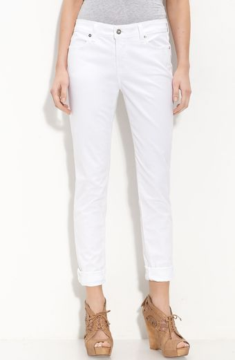 Blue Essence Stretch Twill Pants (petite) - Lyst