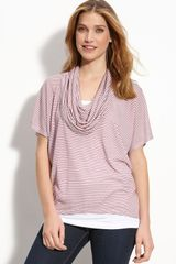 Bobeau Cowl Neck Top - Lyst