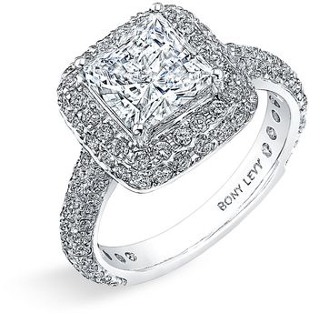 Bony Levy Bridal Pavé Diamond Semi Mount Ring (nordstrom Exclusive) - Lyst