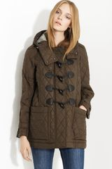 Burberry Brit Toggle Front Quilted Coat - Lyst
