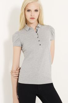 Burberry Brit Gathered Sleeve Polo - Lyst