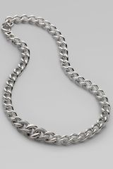 David Yurman Sterling Silver Curb Chain Necklace in Silver - Lyst