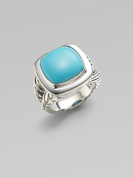 david yurman turquoise sterling silver ring in silver lyst