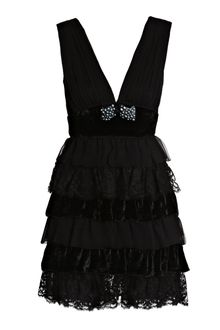 D&G Lace Chiffon Dress - Lyst