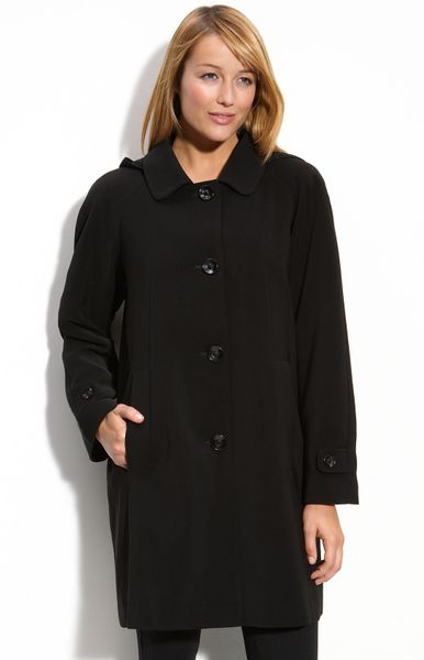 Gallery Nepage Hooded Coat in Black
