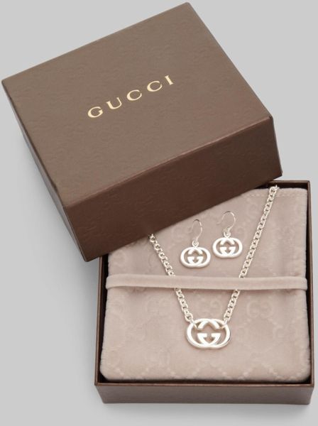 Gucci Sterling Silver Britt Collection Double G Necklace