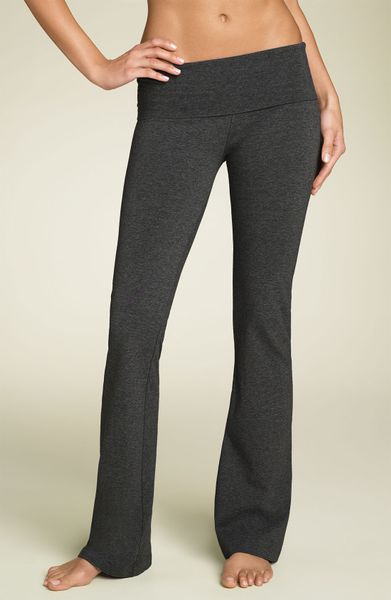 Hard Tail Bootcut Knit Pants In Gray Dark Charcoal Lyst