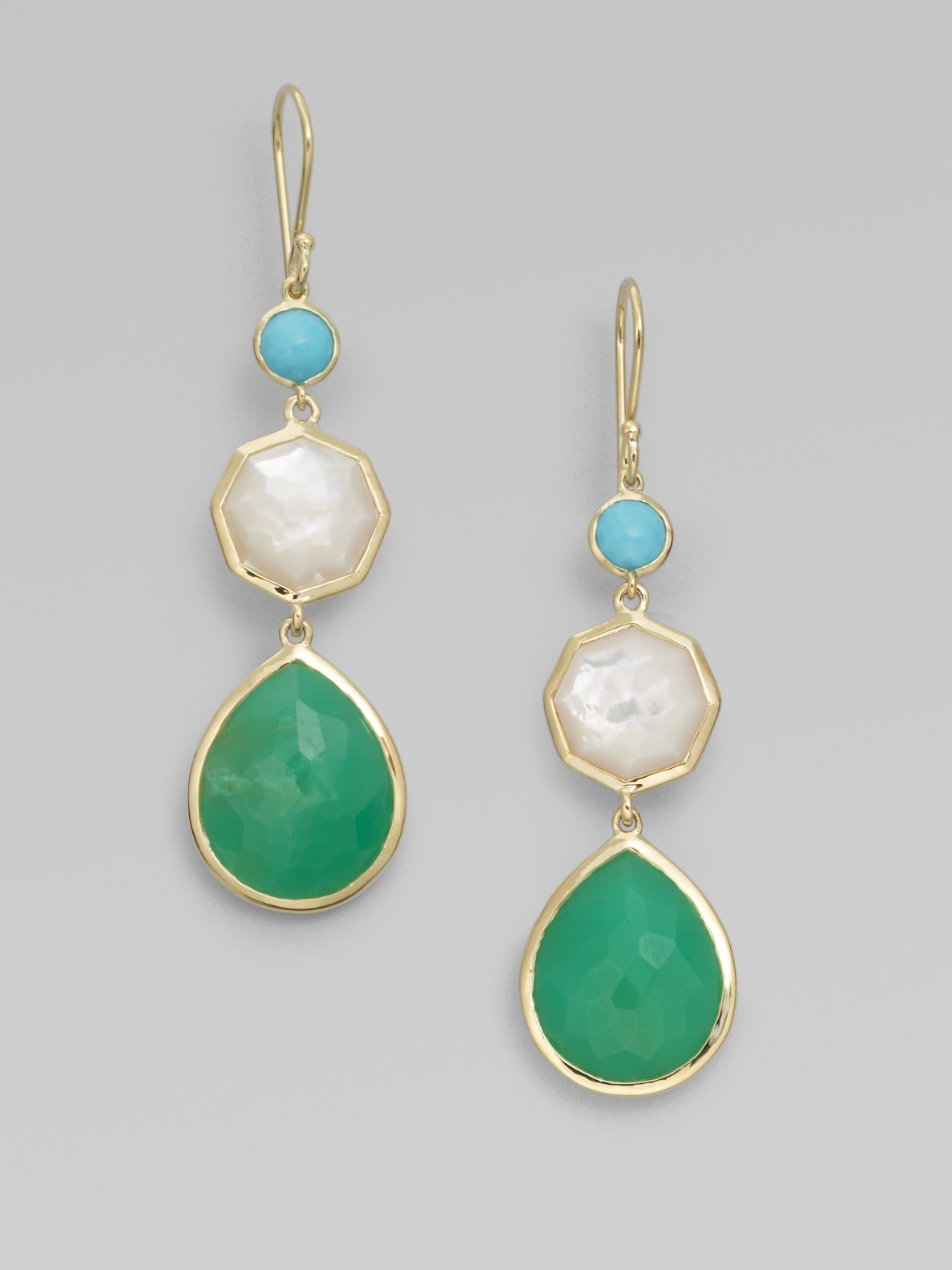 Ippolita Turquoise Mother Of Pearl Chrysoprase Amp 18k