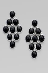 Ippolita Onyx Cabochon & Sterling Silver Cascade Earrings