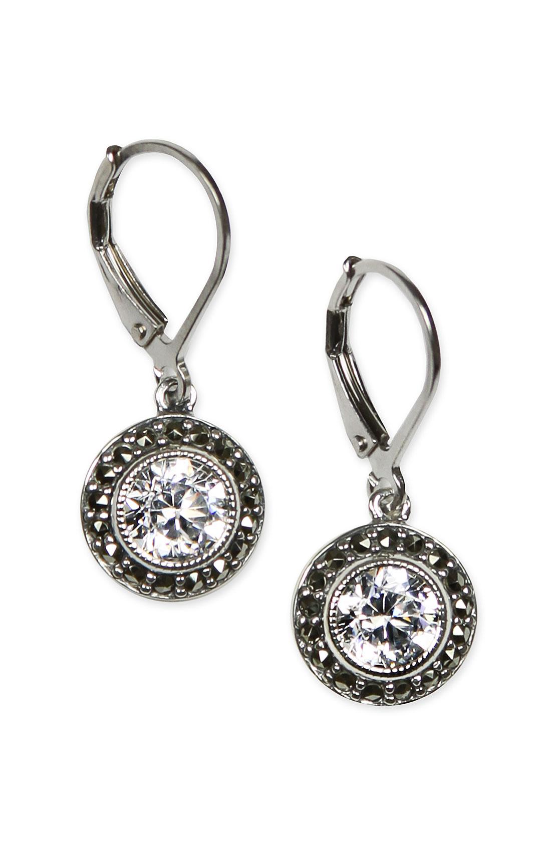 Judith Jack Marcasite Amp Cubic Zirconia Drop Earrings