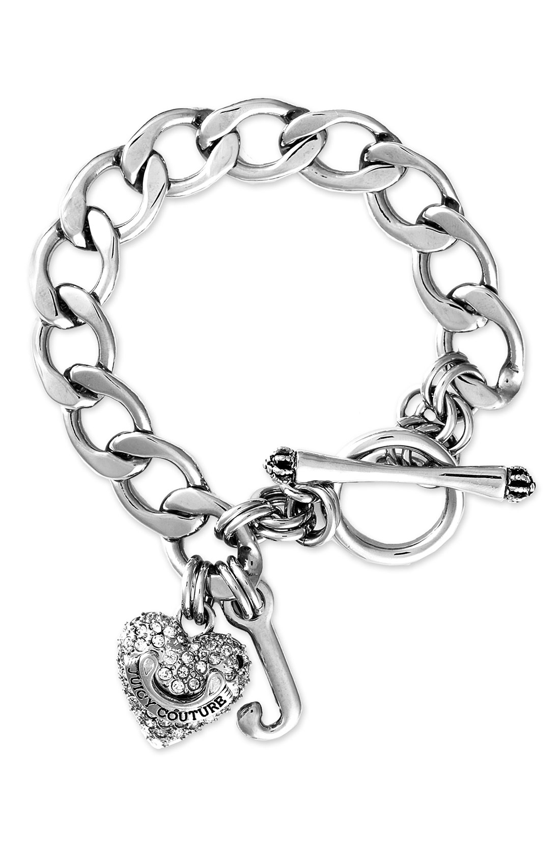 Juicy Couture Pavé Starter Charm Bracelet in Silver (pave ...