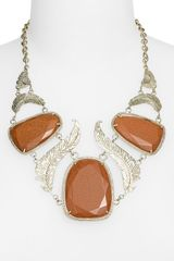 Kendra Scott Ignacia Feather & Stone Statement Necklace - Lyst
