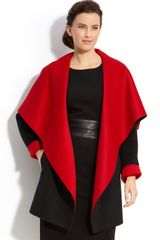 Lafayette 148 New York Shawl Collar Coat - Lyst