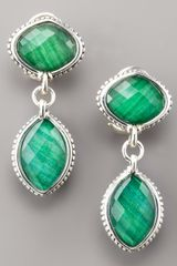 Lagos Malachite Doublet Drop Earrings - Lyst